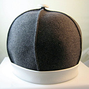 1960's Olge Cassini Mod Felt and Leather Hat