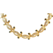 A&S Attwood and Sawyer Faux Diamond and Gold Plate Necklace