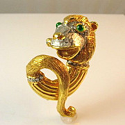 SALE Reduced Rare Kenneth Jay Lane's Oldest Signature K.J.L. Monkey Pin
