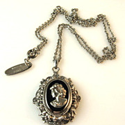 SOLD Whiting and Davis Cameo Necklace