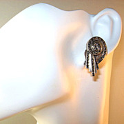 Art Deco Style Marcasite and Sterling Silver Earrings