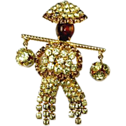 Vintage Hobe Figural Water Boy Pin Circa 1950's-60's