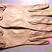 Vintage Christian Dior Pink Leather Gloves