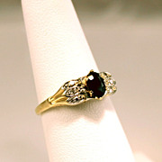 Estate .61ctw Diamond & Sapphire 14 and 18K Gold Ring