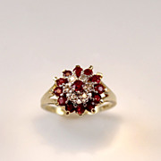 .65ctw Ruby and Diamond 10K Gold Ring