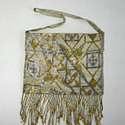 Vintage Flapper Era Beaded French Purse, Evening Bag