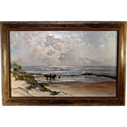 Sea Scape Oil on Canvas by Listed Artist Meeuwis Van Buuren