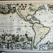 Unique Reproduction of an Ancient French Map Of the South Sea