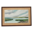 Seascape Oil Painting by Alfred Whittaker (American 20thC) entitled �Bayside�