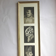 Three vintage Metamorphic PFB Postcards, 2 Napoleon and a Faun, Nude Ladies