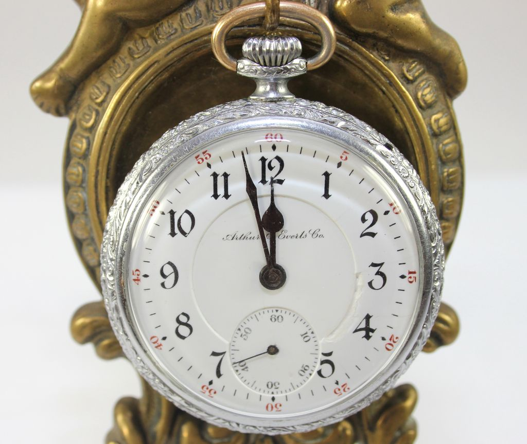 Rare Illinois 165 Open Face, 3 Finger Lever Pocket Watch