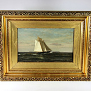 Oil on Canvass Maritime Painting by American Artist W.E Norton (1843-1916)