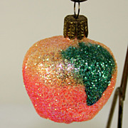 Set of 8 Sparkle Glass German Christmas Ornaments