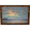 Pastel Landscape of �The Camargue� in by listed French Artist Albert Gouget (1858-1900)