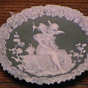 SOLD Green Pate Sur PateType Decorator Plate.