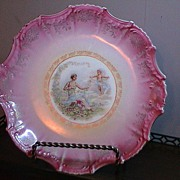 Floral Maiden and Cherub Plate