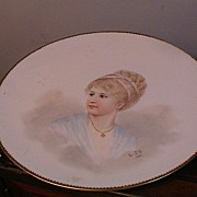 Signed Hand Painted Portrait Plate
