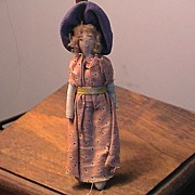 Early English Cloth Doll, Hand Made