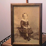 Antique Framed Picture of a Small Boy