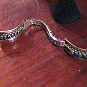 Silver and Turquoise Ladies Watch Band