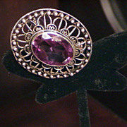 Lovely Vintage Handmade Pin with  Alexandrite