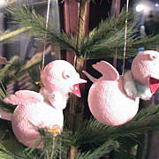"Vintage Bird ornaments 1950's to 1960""s"