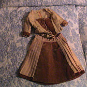 Antique Doll Jacket and Skirt  Outfit 1880's
