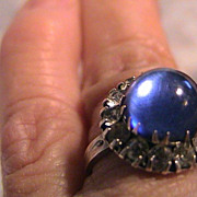 SOLD Vintage Copy of Elizabeth Taylor's Sapphire Ring