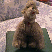 Lovely and Fun Vintage Mohair Poodle Dog