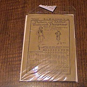 REDUCED Vintage Juniors Dress Pattern 1930's