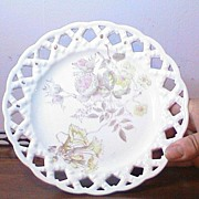 REDUCED Vintage Lacework Plate  Unmarked