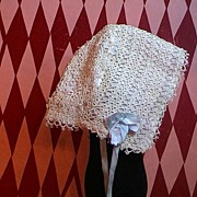 Very Vintage Tatted Bonnet; Great for a French or German Doll