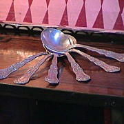 Antique Silverplate Berry Spoons - Dated 1908