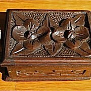 Wood Hand Carved Box with Female and Male Sleeping Mexicans