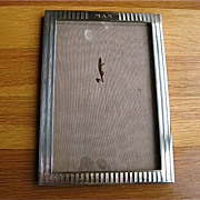 Sterling Silver Tuxedo Stripe Picture Frame