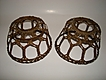 Arts and Crafts Woven Brass Lamp Shades (pair)