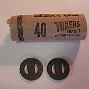 Vintage Roll 40 Railroad Fare Tokens - Indianapolis, Indiana