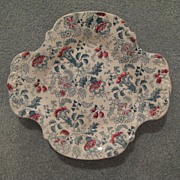 Victorian Old Chintz Plate   English c.1870