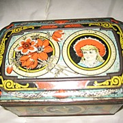 Huntley and Palmers Wildflower Biscuit Tin  c. 1887