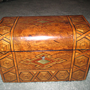 Walnut Tea Caddy English c. 1870