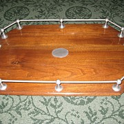 Victorian Oak Gallery Tray c. 1880