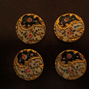 Antique Enamel Buttons c.1880