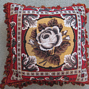 Victorian Beadwork Cushion English c. 1870
