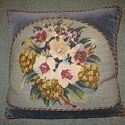 Victorian Needlepoint Cushion c. 1870