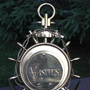 Nautical Motif Brass Visitor's Card Stand c. 1870