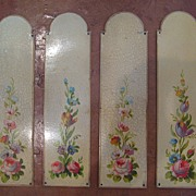 Unusual Set of Tole Peinte Door Plates  c. 1900