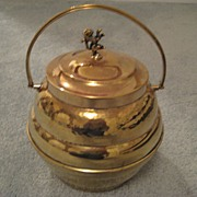 Brass Biscuit Barrel c. 1880