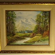 Paul Lehmann-Brauns Framed Orig. Landscape Oil Painting on Canvas