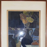"Toru Mabuchi ""Fruit Still Life"" Woodblock Limited Edition Print"
