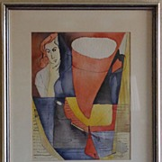 "Original Arthur Secunda ""Mexico, 1951"" Watercolor w/Pen & Ink On Paper [framed]"